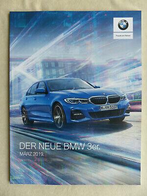 Bmw 3er Limousine 330d M Sport Typ G20 - Prospekt Preisliste Brochure 03.2019 Reinweiß Und LichtdurchläSsig