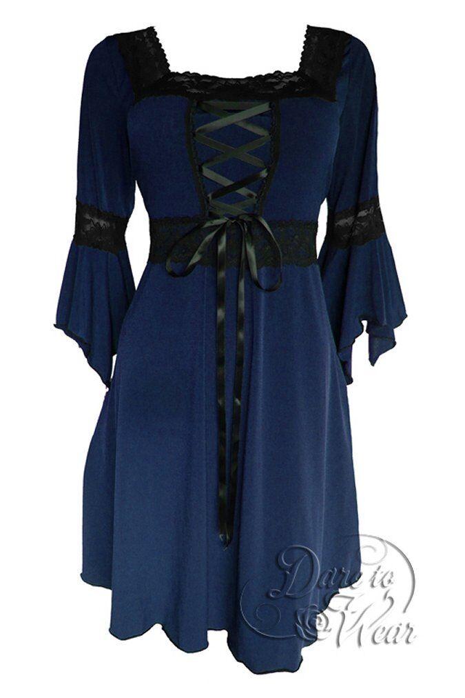RENAISSANCE Gothic Victorian MIDNIGHT Blau Corset Dress Größe 3X