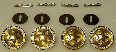 4 New Jersey STATE SEAL Silver Uniform Buttons LARGE Pins//Washers NJ police//fire