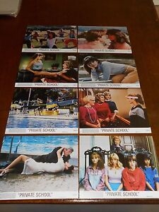 PRIVATE-SCHOOL-1983-PHOEBE-CATES-ORIGINAL-COLOR-STILL-SET-OF-8-DIFF