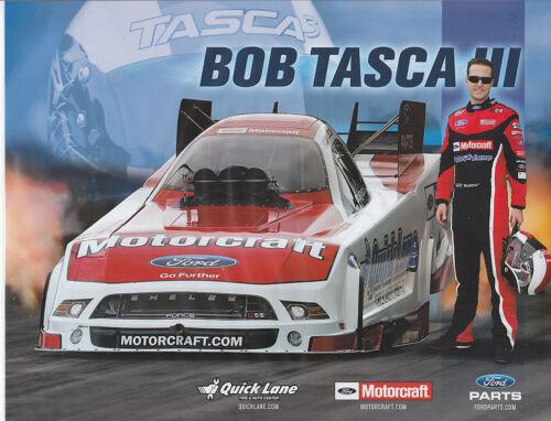"2013 BOB TASCA III /""MOTORCRAFT/"" NHRA NITRO FUNNY CAR HANDOUT//POSTCARD"