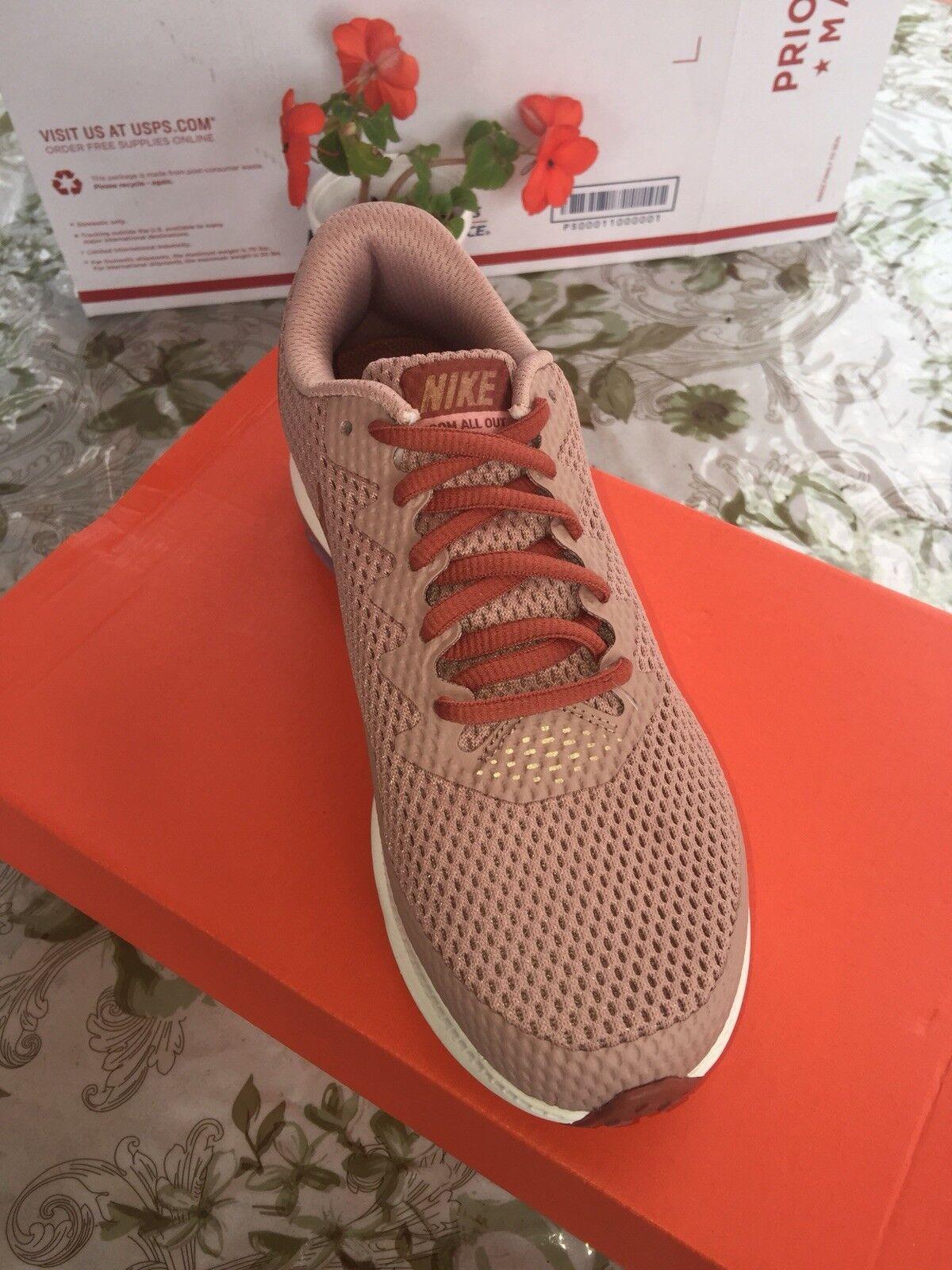 Nike w nike zoom tutti bassi 2 aj0036-200 dusty peach / mtlc rosso bronzo misura 7 & 8