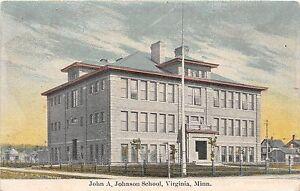 B70-Virginia-Minnesota-Mn-Postcard-c1910-John-A-Johnson-School-Building