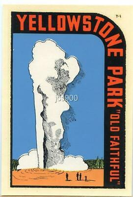 Yellowstone Old Faithful  Vintage-Looking  Travel Decal