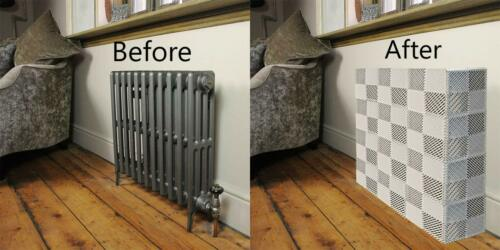 Ready Covers Radiator Cover Heating Cabinet WHITE - 30 Tiles, 150 Pegs