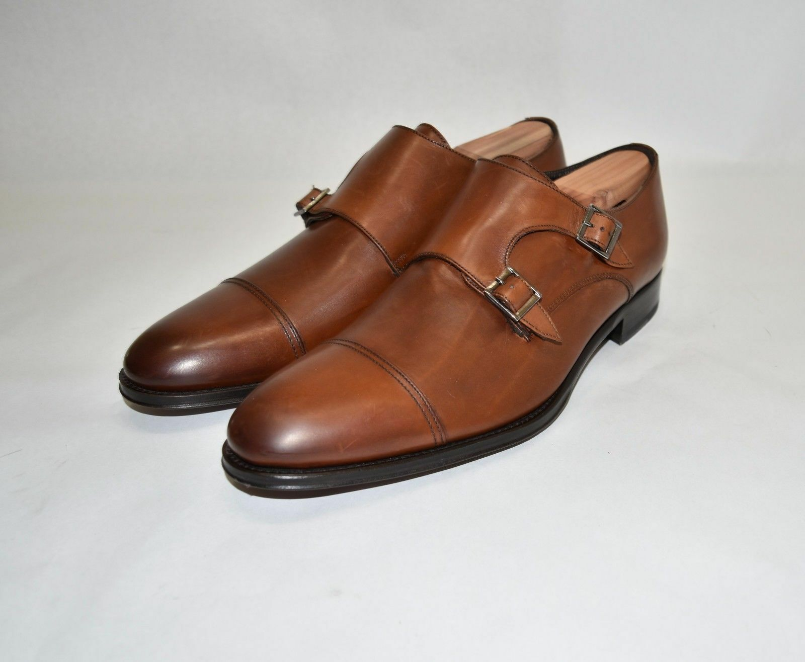 New   To Boot New York 'Medford' Double Monk Strap 11 Cognac Brown Men's   G