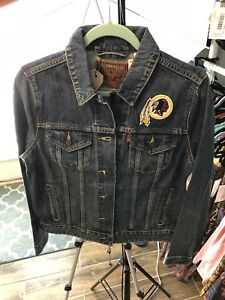 best service 82b8b 0b47b Details about Washington Redskins Women's Levis Denim Jean Jacket NFL New  with Tags