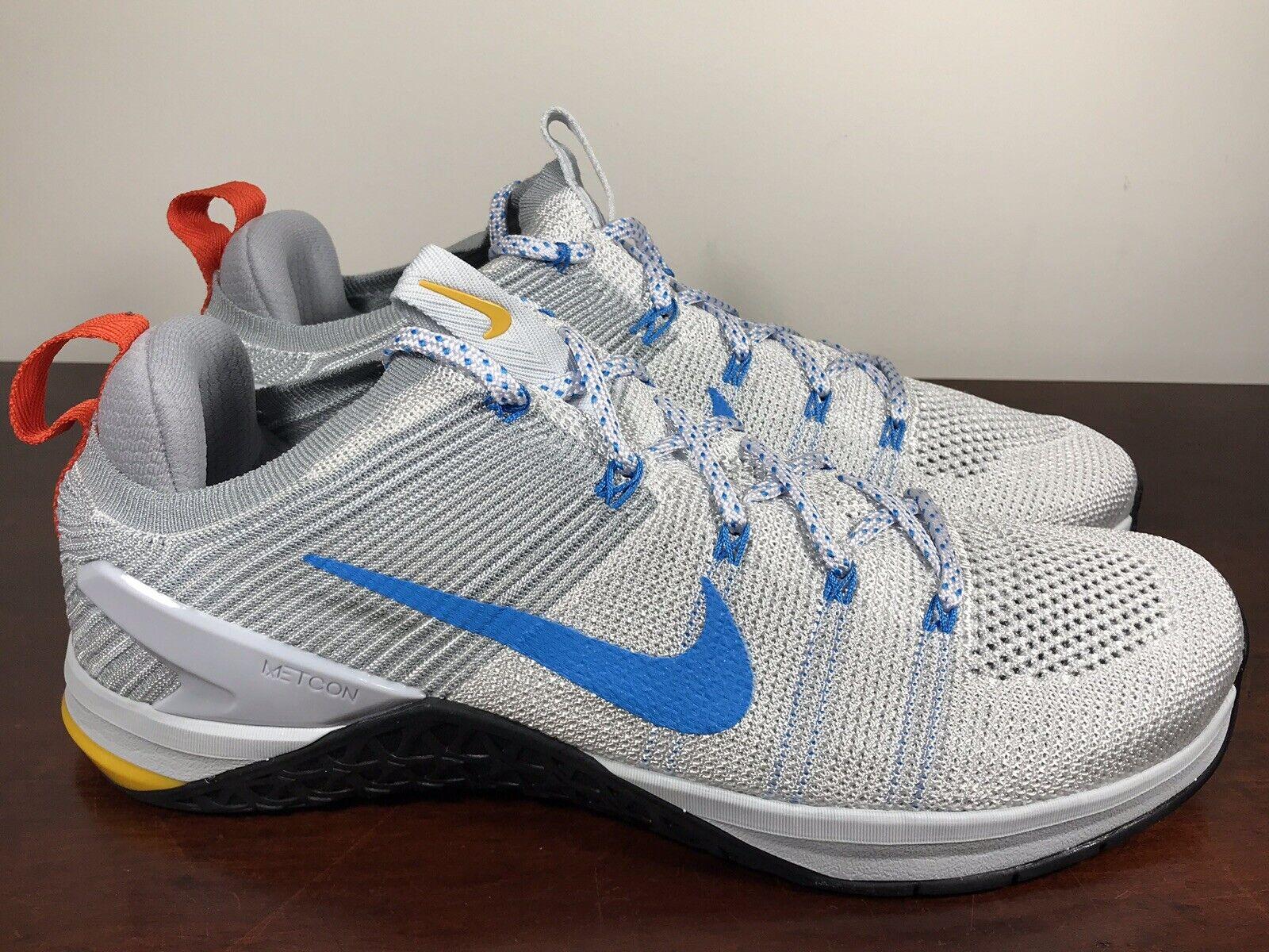Men's Nike Metcon DSX Flyknit 2 White blueee Pure Platinum 924423-140 SZ 9.5 RARE