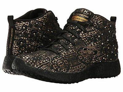 Skechers Women's Burst Seeing Stars High Top 36 schwarz gold Blumen Schuhe Häkel | eBay
