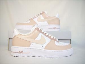 Custom Nike Air Force 1 Beige Neutral White Size 9   eBay