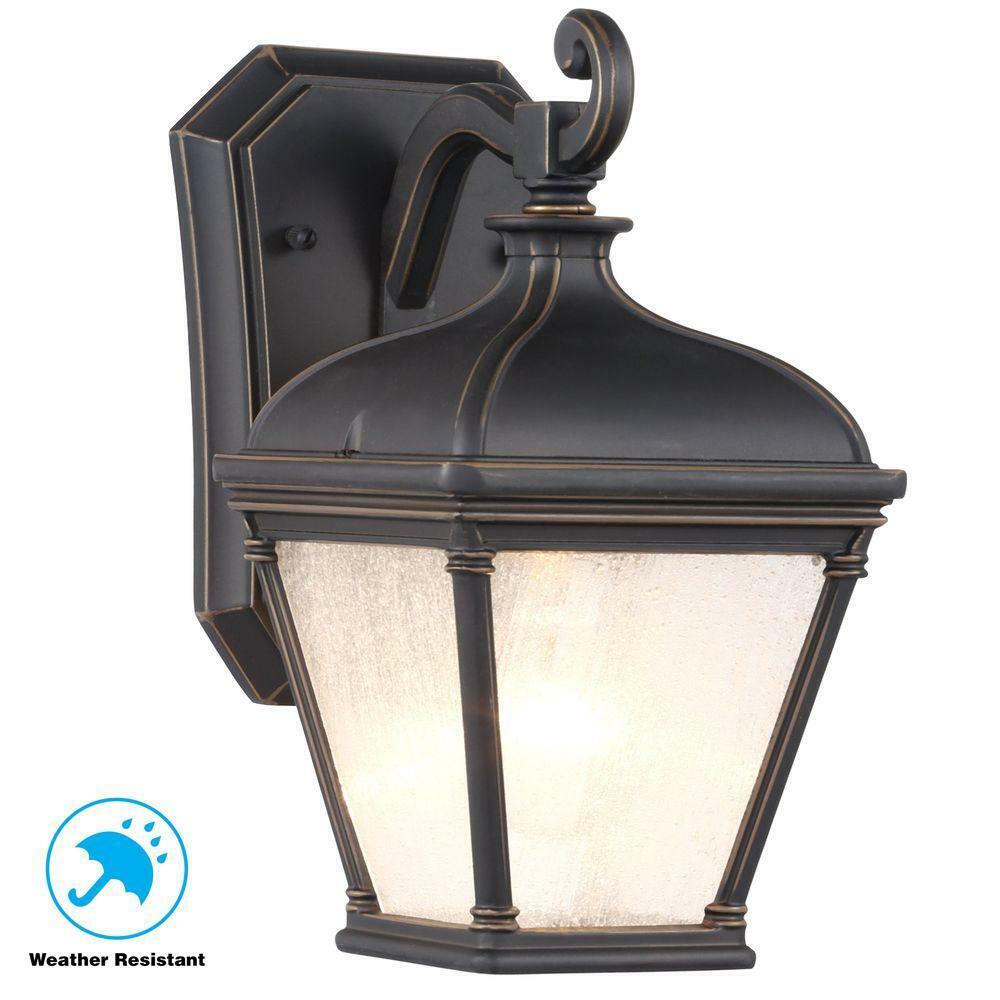 Hampton Bay malford Bronce frojoado oscuro al Aire Libre Lámpara de Parojo Linterna 10 pulgadas