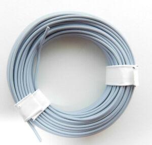 10-m-Litze-Kabel-GRAU-z-B-fuer-Maerklin-Spur-H0-Modellbahn-oder-N-TT-etc