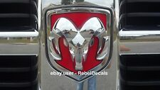 Dodge RAM 1500 Grill and Tailgate Emblem Decal 2013 2014 2015 2016 2017 2018