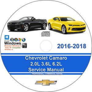 Chevrolet Camaro 2016 2018 2 0l 3 6l
