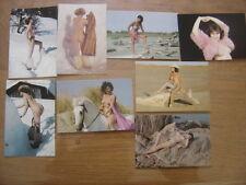 LOT carte postale Postcard 1988 SERIE MINOUCHE SENECHAL nu erotisme sexy AKT FKK