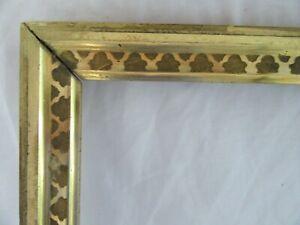 """Antique Fits 8 X 10""""  Lemon Gold Gilt Picture Frame Stencil Wood Gesso Fine Art"""