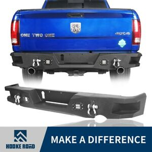 Fit for 2009-2018 Dodge Ram 1500 Textured Step Rear Bumper Bar Assembly Off-road