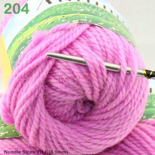 1 Ball x50g Fashion Soft Worsted Chunky Hand DIY Sweater Wool Knitting Yarn Gift