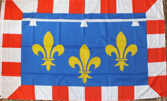 CENTRO BANDIERA FRANCIA 5x3 ORLEANS Chartres FRENCH FRANCAIS ARALDICO MEDIEVALE