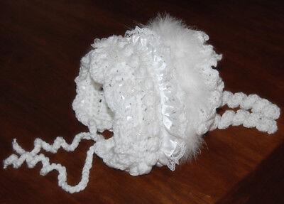 All Sizes DK Laminated Baby Bonnet Crochet PATTERN !! Beautiful UK