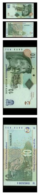 South Africa The Big Five Rhinocerous 10 Rand 2005 Pick 128 Crisp Unc