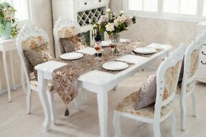 Corredor-de-la-tabla-Set-Borla-Casa-de-las-decoraciones-Chenille-lugar-Mat-Cojin-Damasco-flocado