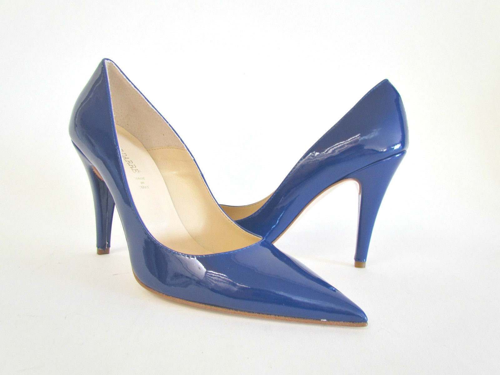 outlet in vendita NEW PIERRE DARRE' COBALT blu POINTY TOE PATENT PATENT PATENT LEATHER HIGH HEEL scarpe 39 - 9 M  in cerca di agente di vendita