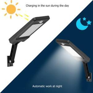 Stradale-Faretto-Energia-Solare-60-LED-Fotovoltaico-Lampada-Luce-Sensore-Nero
