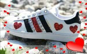 adidas superstars bianche e rosse