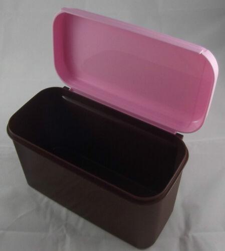 Tupperware Bellevue boîte 2,6 L haut marron//rose neuf emballage d/'origine