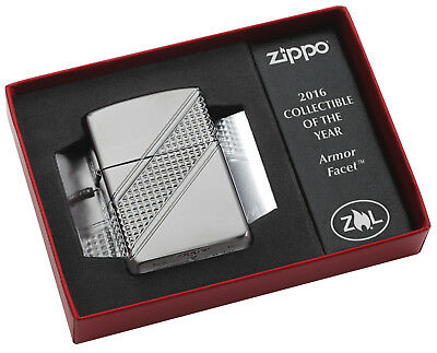 ZIPPO COLLECTIBLE OF THE YEAR 2016 Armor Facet Limited Edition xxxxx/13000 NEU