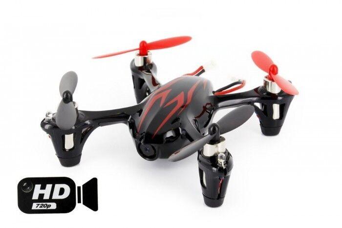 Hubsan X4 Quadcopter RTF CON TELECAMERA HD 2MP Nero/Rosso