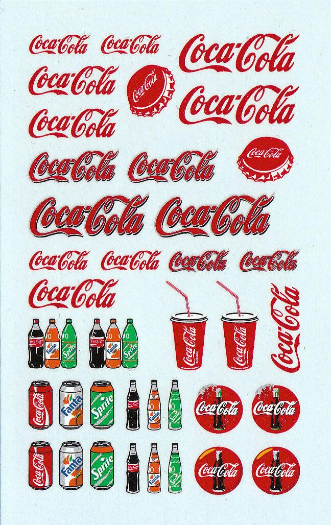 Planche de décalcomanies Coca-Cola - 1 43ème