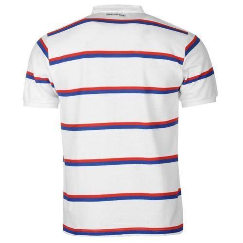"SYB14 UEFA /""EURO 2016 France/"" England Men/'s Striped Polo Shirt"