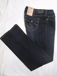 SILVER JEANS * Womens SUKI SLIM BOOT Blue Jeans * Size 29 x 33 ...