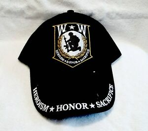 Wounded-Warrior-High-Quality-Embroidered-Black-Cotton-Ball-Cap
