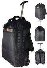 MENS LADIES RUCKSACK WITH WHEELS TROLLY BAG TRAVEL BAGS CABIN BAG WITH HANDLE