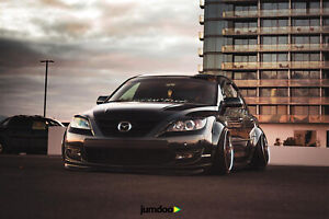 Mazda Speed 3 >> Details About Mazda 3 Fender Flares Classic Wide Body Kit Mazdaspeed3 Jdm Abs 3 5 90mm 4pcs