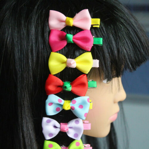 10pcs Random Kids Baby Girls Children Toddler Hair Clip Bow Hairpin Accessories
