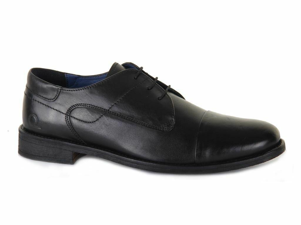 Chatham Mens Ripon Leder Derby Schuhe In schwarz In Größe UK7 to UK15