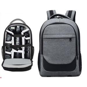 Waterproof Camera Backpack Travel Bag Insert 14 Laptop For Dslr Canon Nikon Ebay