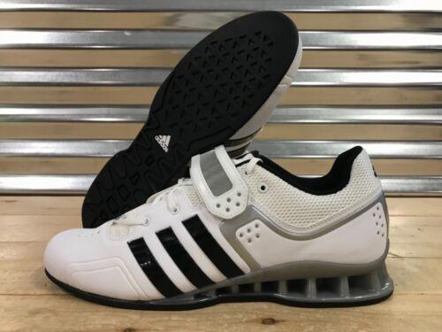 levantamiento Entrenadores Negro Blanco Zapatos Adipower Plata pesas Adidas de de M25733 Sz AqtYO
