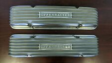 Offenhauser Finned Amp Polished Valve Covers Small Block Chevy Staggered Bolt Patt