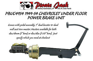 1949 1954 Chevy Car Frame Mount Brake Pedal Assembly With Power Booster Master Ebay