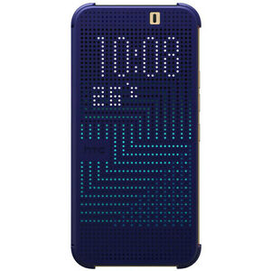 online store 4b6e6 e2c89 Details about NEW OFFICIAL HC M231 HTC ONE M9 DOT VIEW FLIP SHELL CASE  COVER BLUE 99H20103-00