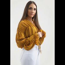 4358842daf08cf item 2 Women Bardot Frill Top Ruffle Bell Long Sleeve Gingham Shirt Ruched  Sheer Blouse -Women Bardot Frill Top Ruffle Bell Long Sleeve Gingham Shirt  Ruched ...