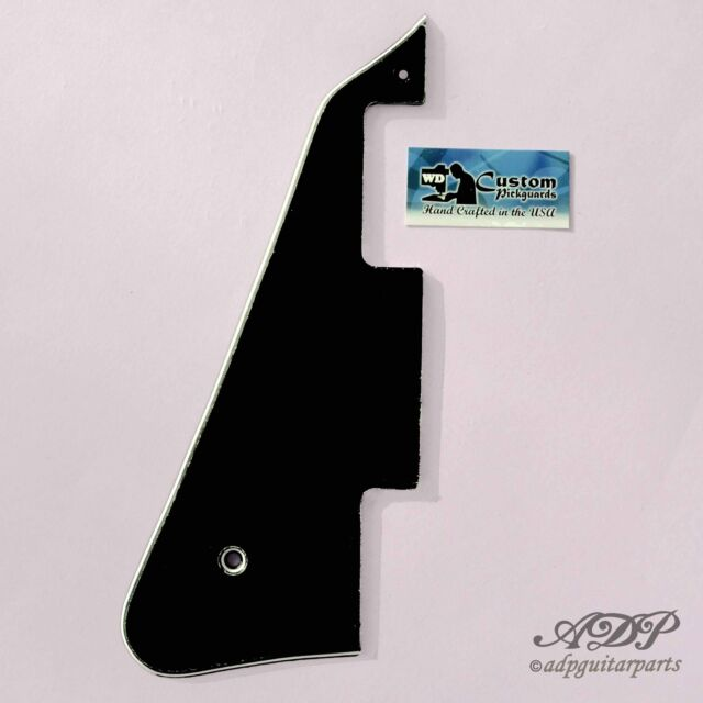 Plaque Pickguard Gaucher pour Gibson LP Noire 3ply Black/W/B Humbuckers Lefty