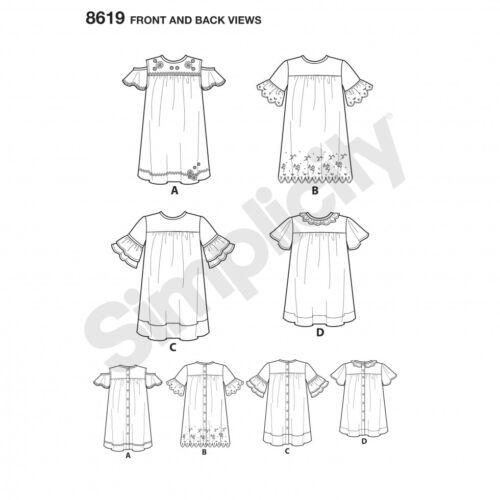 Gratis Reino Unido P/&p fp simplicidad - 8619-A Simplicity Sewing Pattern 8619