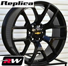 "2014 GMC Sierra Replica Wheels Gloss Black 20"" Rims fit Silverado Suburban Tahoe"
