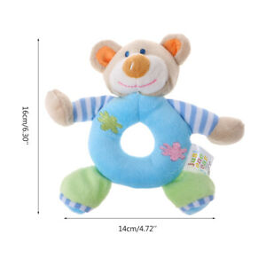 Baby Stuffed Plush Rattle Soft Animal Hand Grasping Small Ball Bell Toys DD